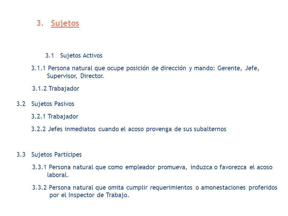 3. Sujetos 3.1 Sujetos Activos