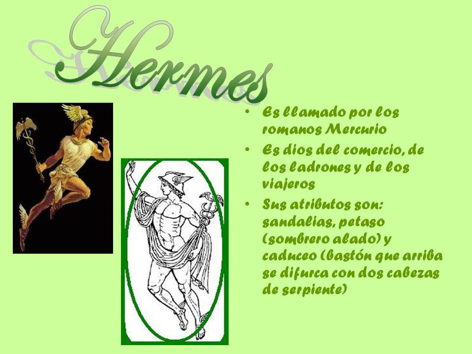 Hermes Es llamado por los romanos Mercurio