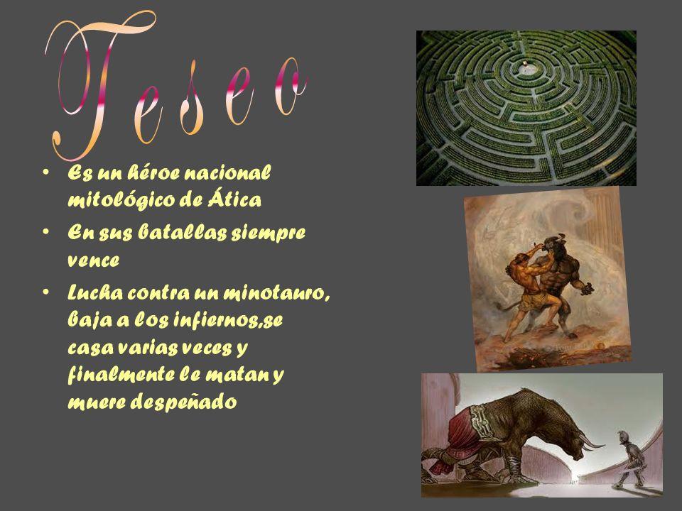 Teseo Es un héroe nacional mitológico de Ática