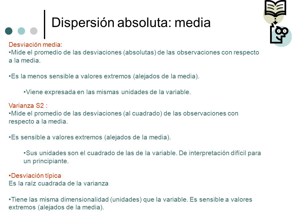Dispersión absoluta: media