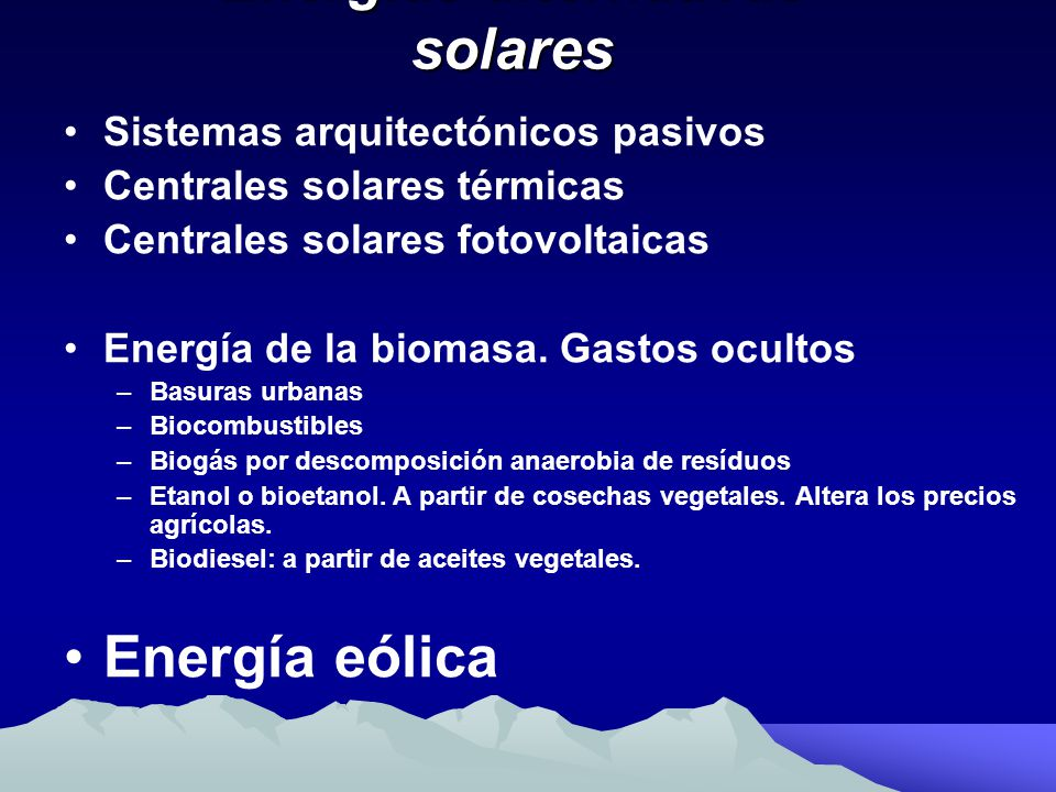 Energías alternativas solares