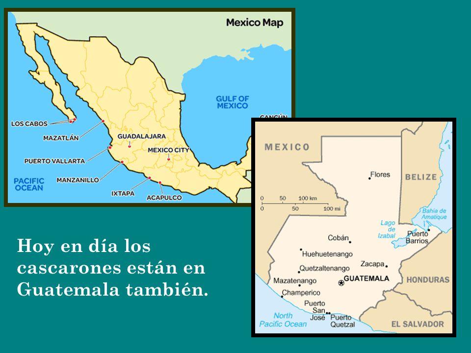 Hoy en día los cascarones están en Guatemala también.