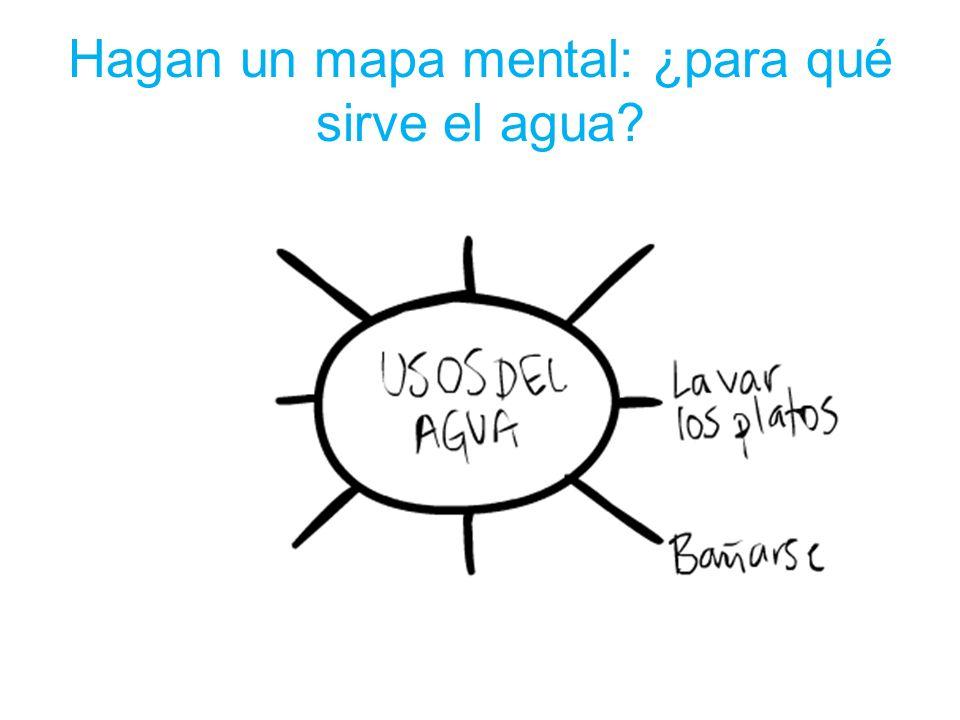 Hagan un mapa mental: ¿para qué sirve el agua