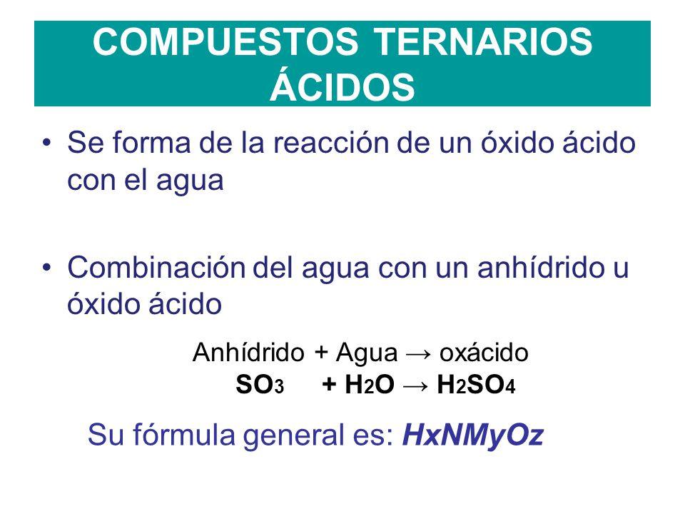Compuestos Ternarios ácidos Ppt Video Online Descargar