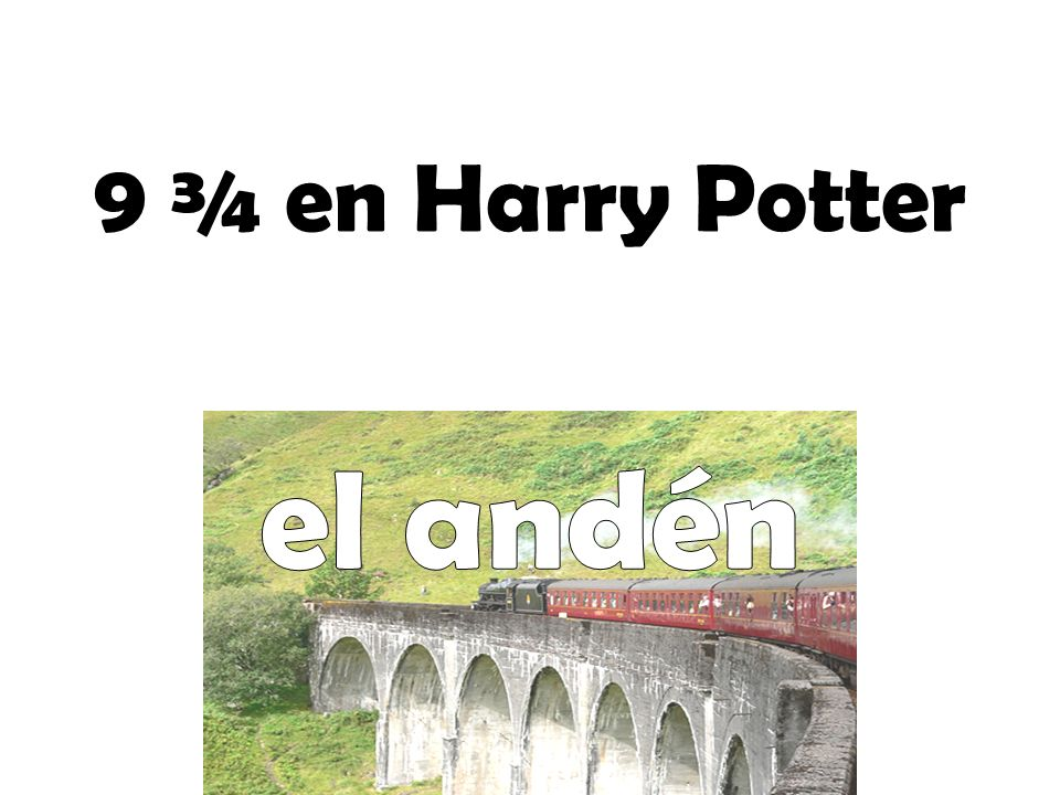 9 ¾ en Harry Potter el andén