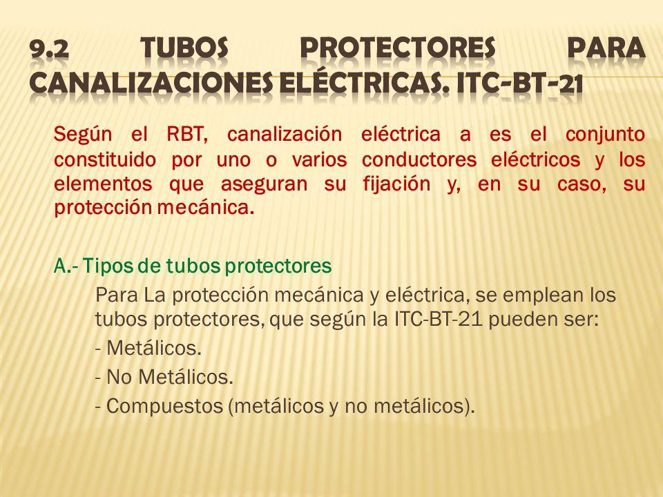 9.2 Tubos protectores para canalizaciones eléctricas. ITC-BT-21