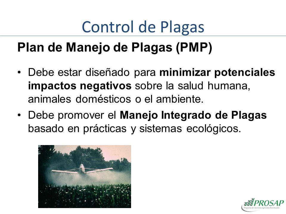 Control de Plagas Plan de Manejo de Plagas (PMP)