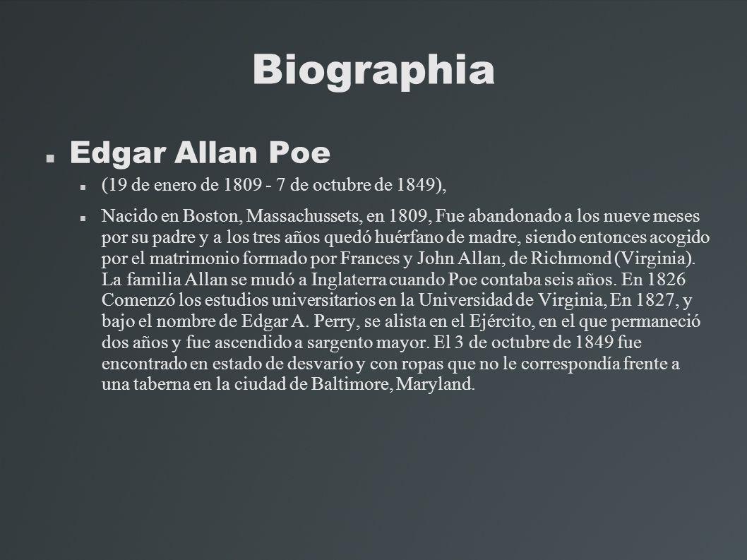 Biographia Edgar Allan Poe