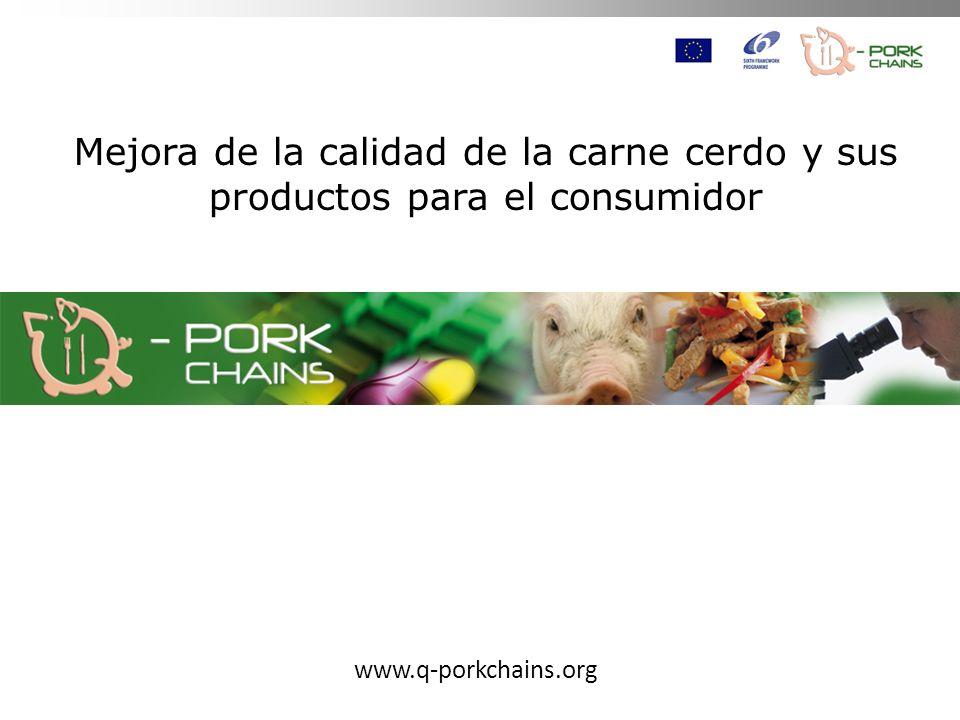 Mejora de la calidad de la carne cerdo y sus productos para el consumidor