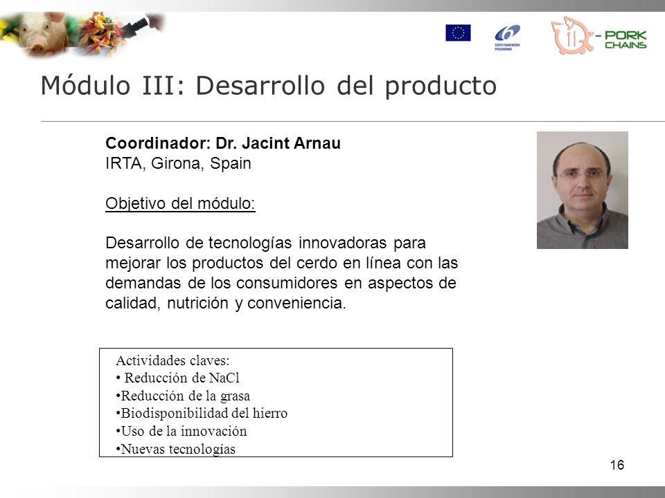 Módulo III: Desarrollo del producto