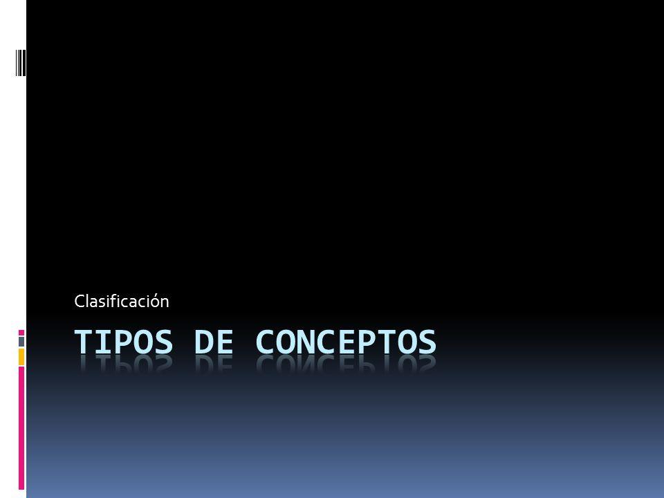 Clasificación Tipos de Conceptos
