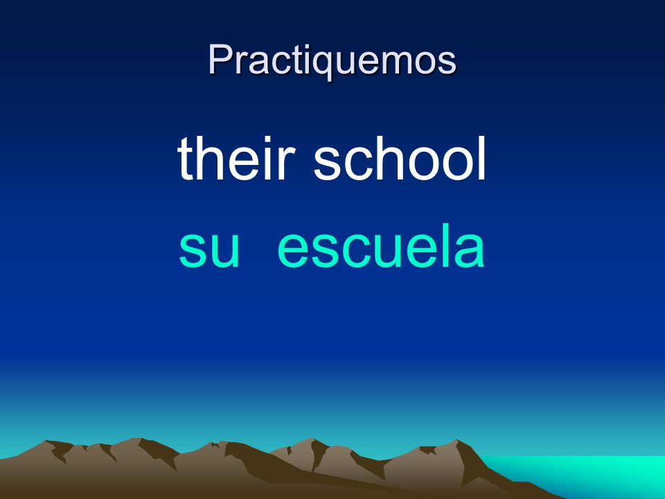 Practiquemos their school su escuela