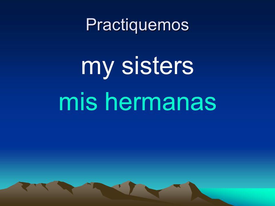 Practiquemos my sisters mis hermanas