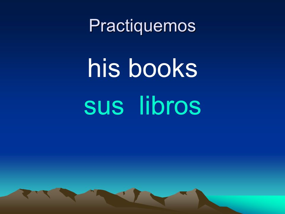 Practiquemos his books sus libros