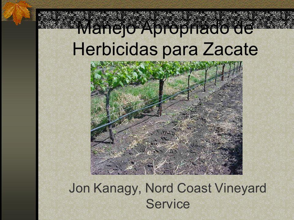 Manejo Apropriado de Herbicidas para Zacate