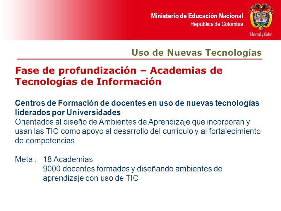 Fase de profundización – Academias de Tecnologías de Información