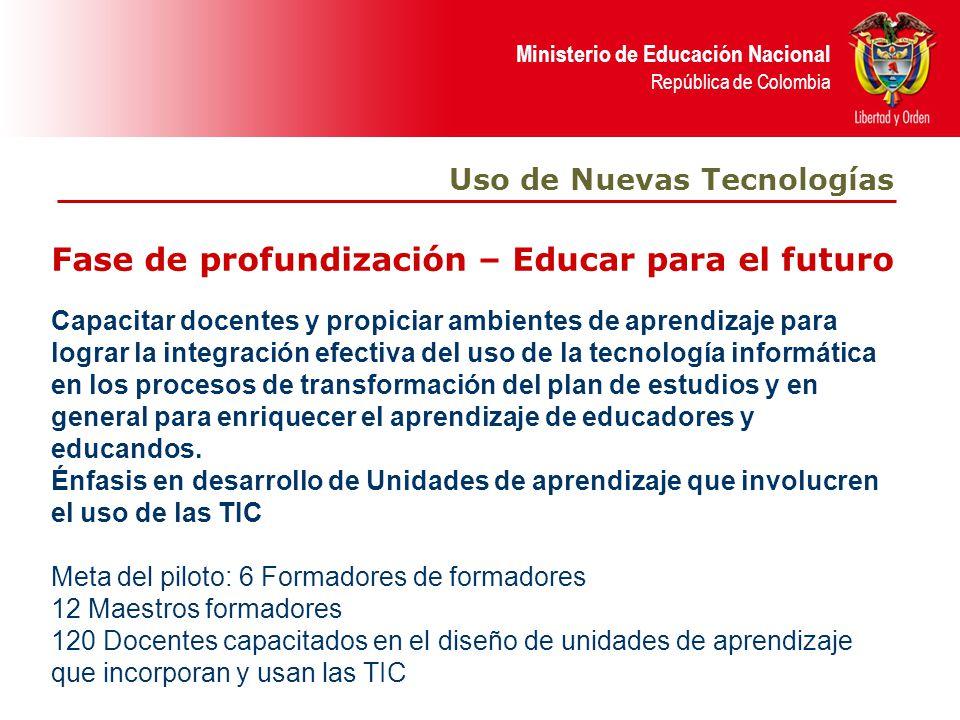 Fase de profundización – Educar para el futuro
