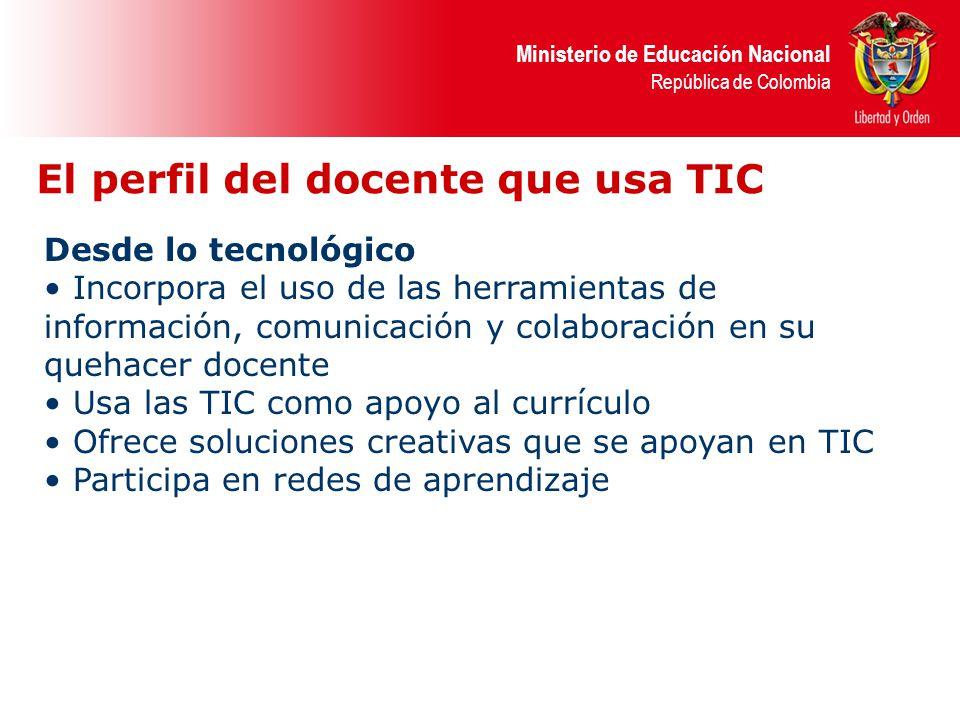 El perfil del docente que usa TIC