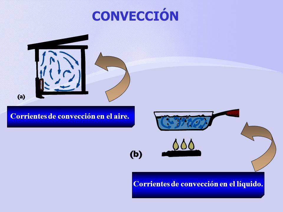 CONVECCIÓN Corrientes de convección en el aire.