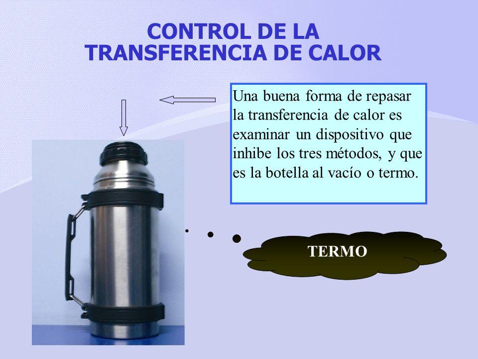 CONTROL DE LA TRANSFERENCIA DE CALOR