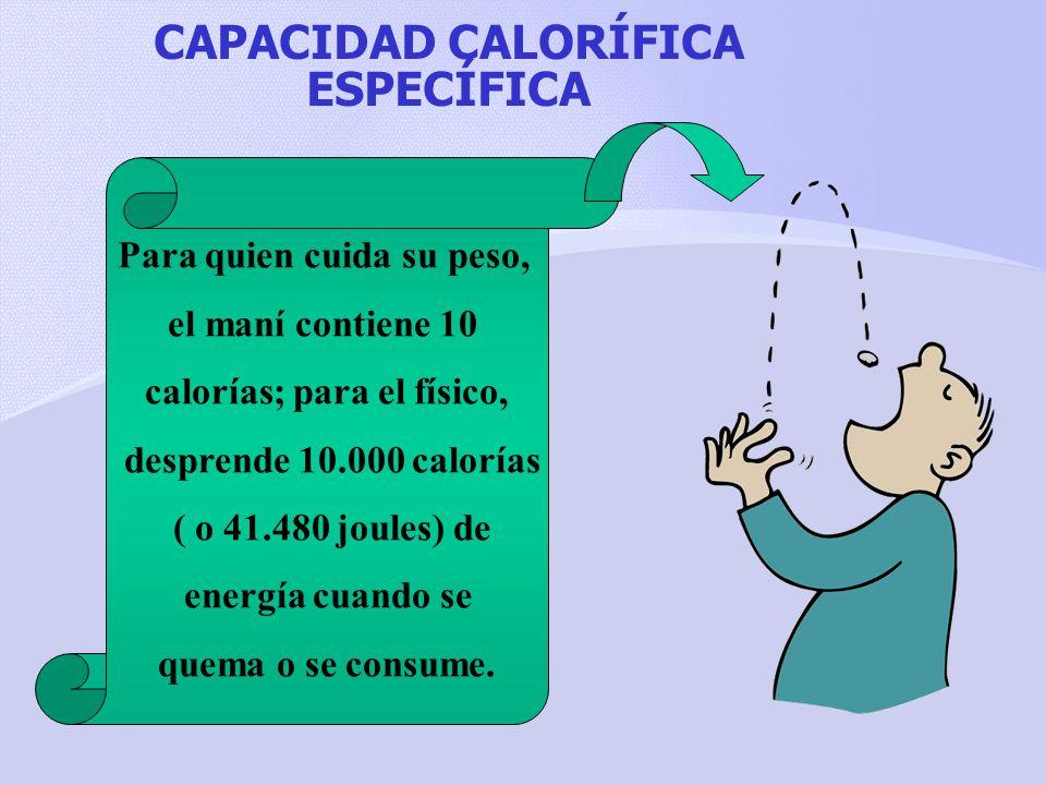 CAPACIDAD CALORÍFICA ESPECÍFICA