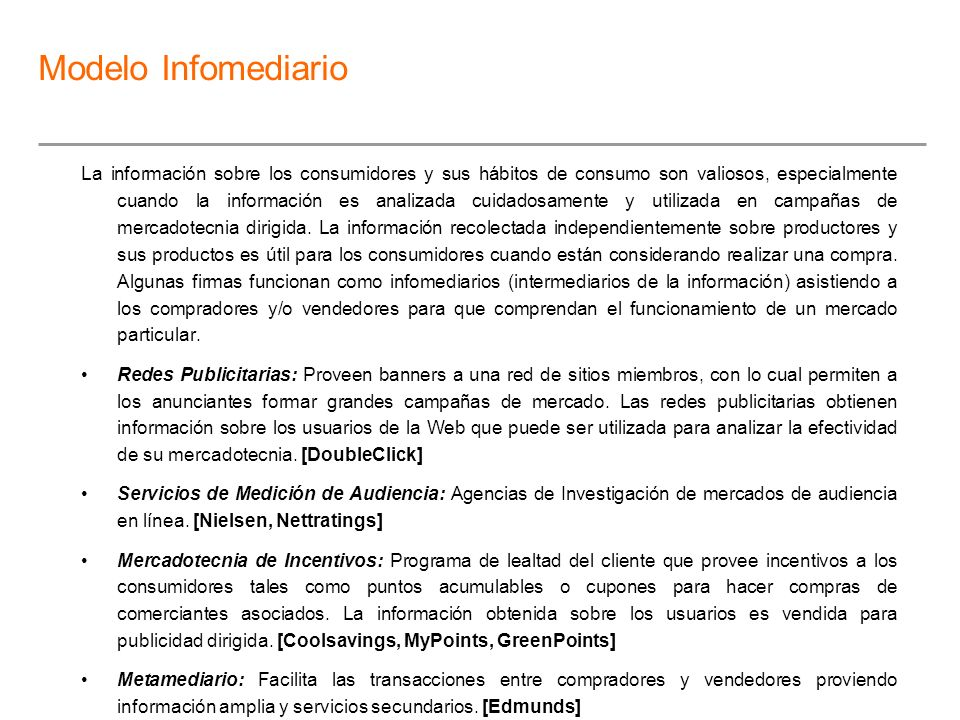 Modelo Infomediario