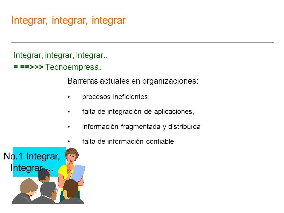 Integrar, integrar, integrar.. = ==>>> Tecnoempresa.