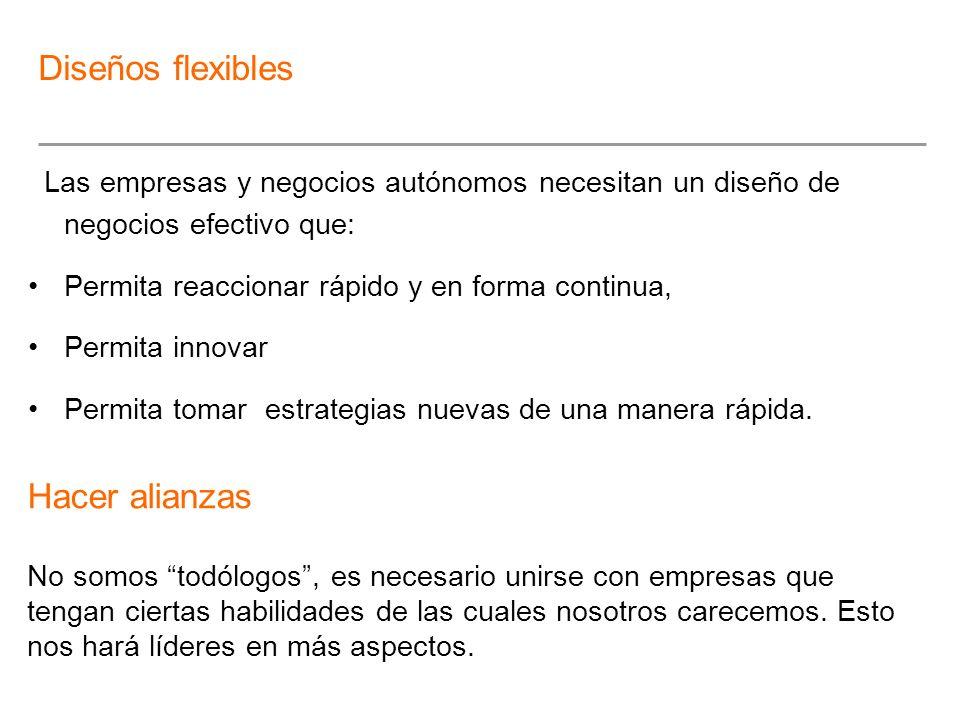 Diseños flexibles Hacer alianzas