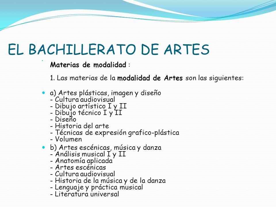 EL BACHILLERATO DE ARTES