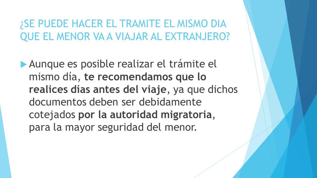 Vas A Viajar Al Extranjero La Sre Emite: REQUISITOS LEGALES MENORES DE EDAD.