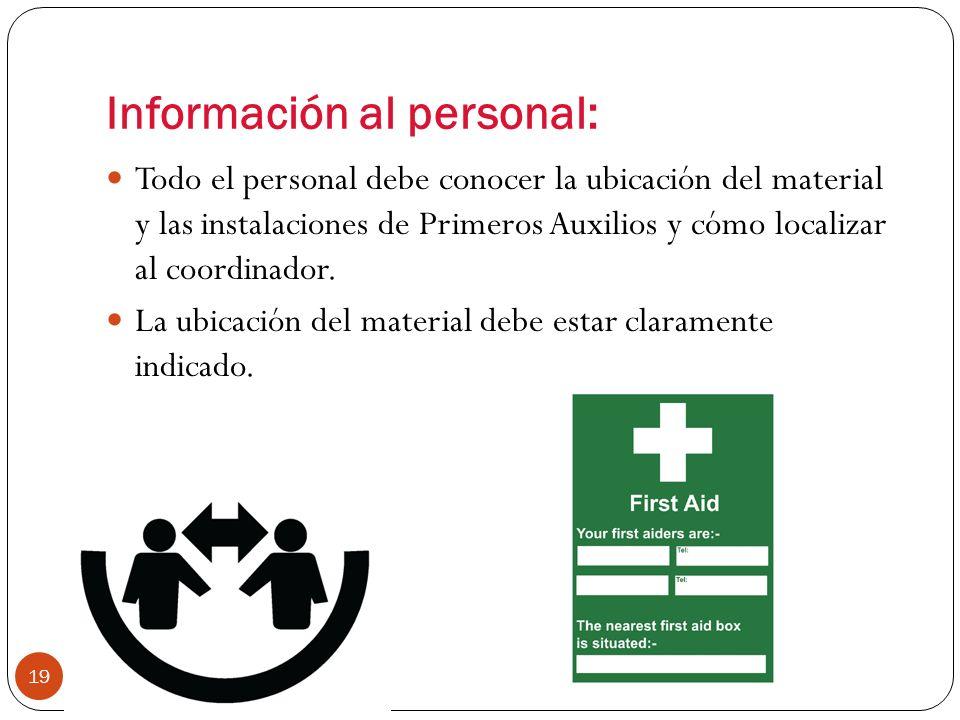Información al personal: