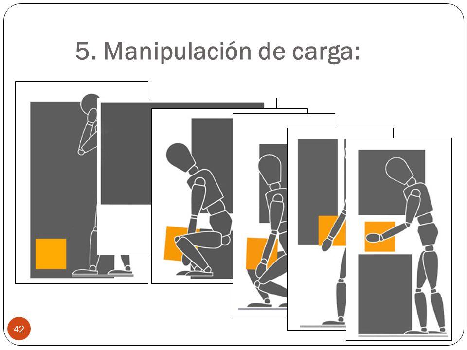 5. Manipulación de carga: