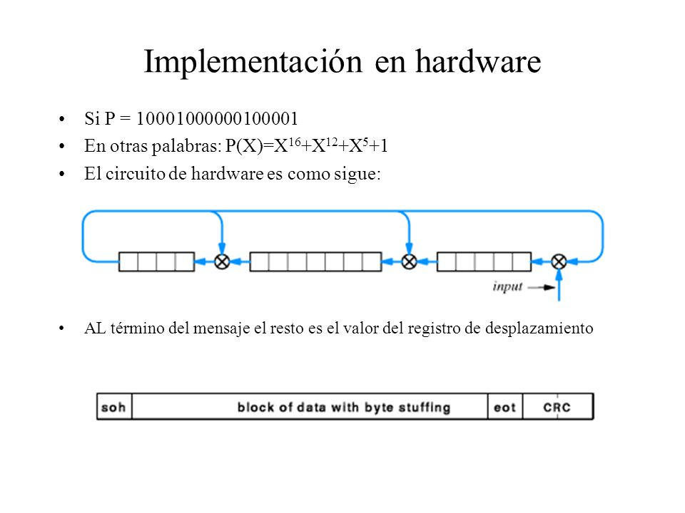 Implementación en hardware