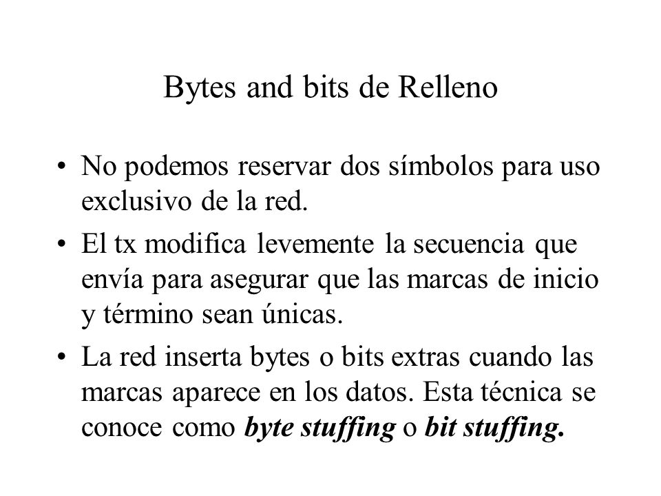 Bytes and bits de Relleno
