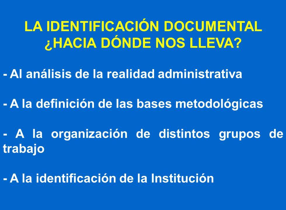 La identificaci n de los documentos en los archivos for Oficina administrativa definicion