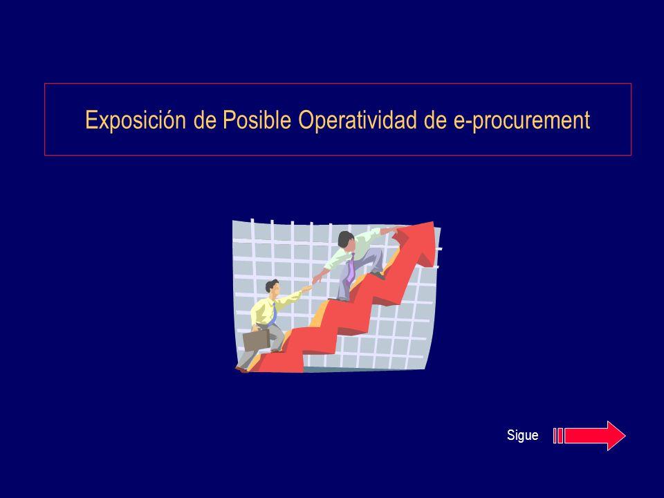 Exposición de Posible Operatividad de e-procurement