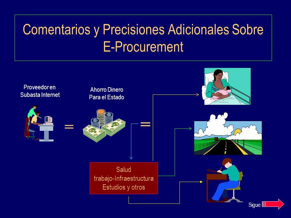 Comentarios y Precisiones Adicionales Sobre E-Procurement
