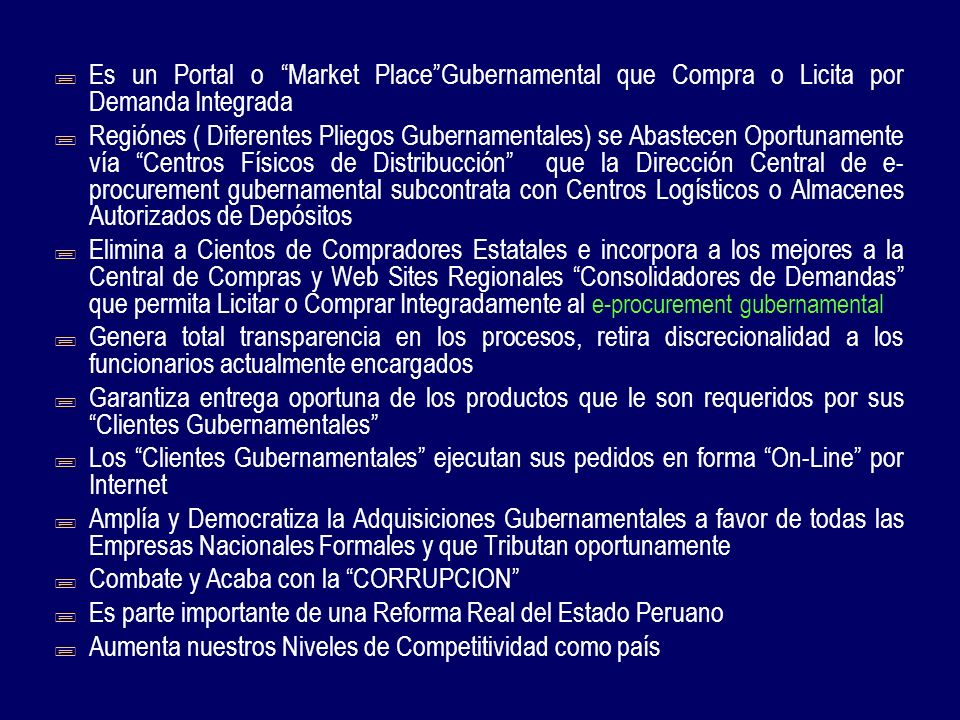 E procurement gubernamental ppt descargar for Central de compras web opiniones