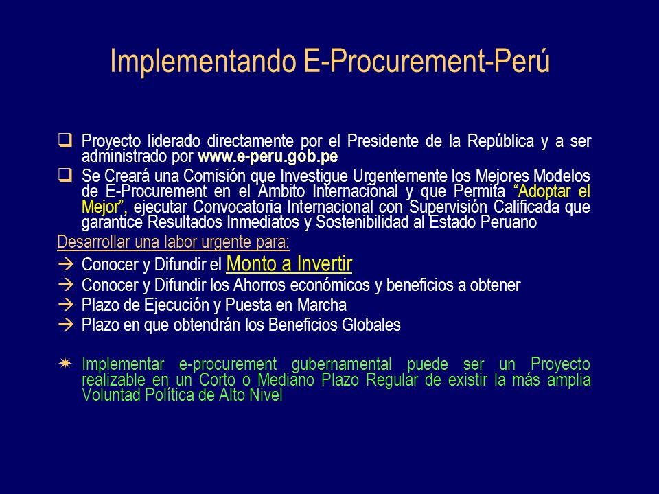 Implementando E-Procurement-Perú