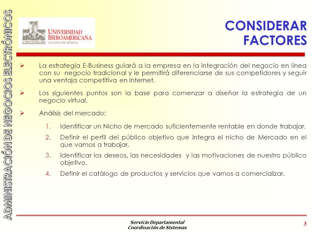 CONSIDERAR FACTORES