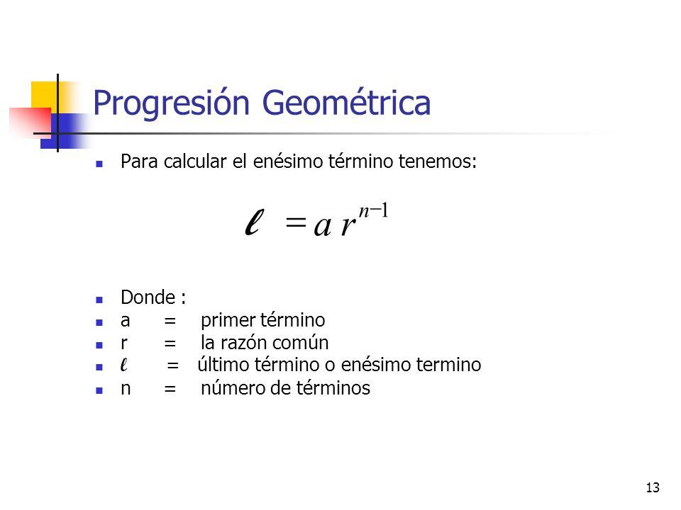 ¿Cual es la fórmula para calcular el n-ésimo término de ...