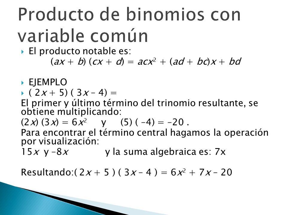 Producto de binomios con variable común