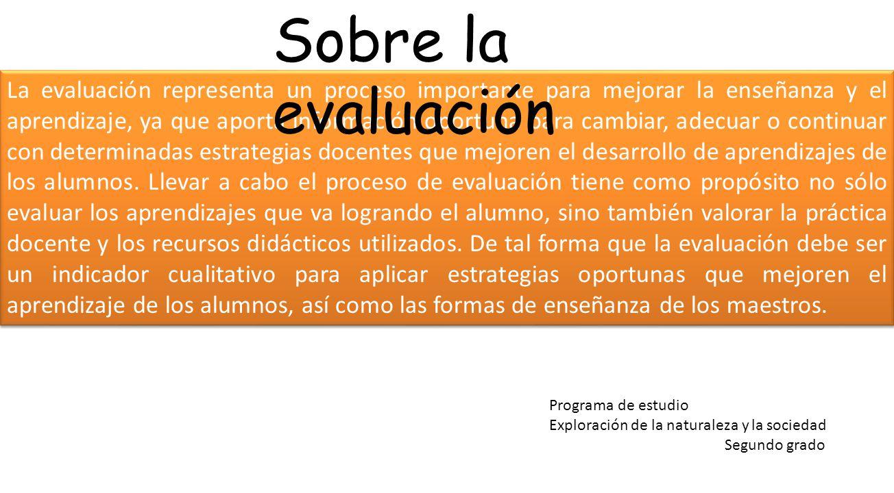 Sobre la evaluación