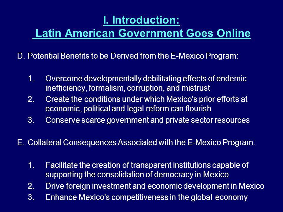 I. Introduction: Latin American Government Goes Online