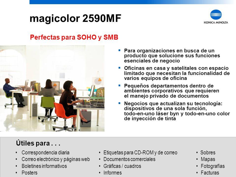 magicolor 2590MF Perfectas para SOHO y SMB Útiles para . . .