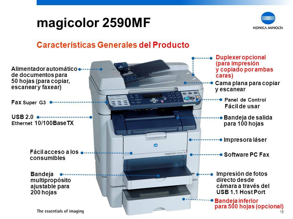 magicolor 2590MF Características Generales del Producto