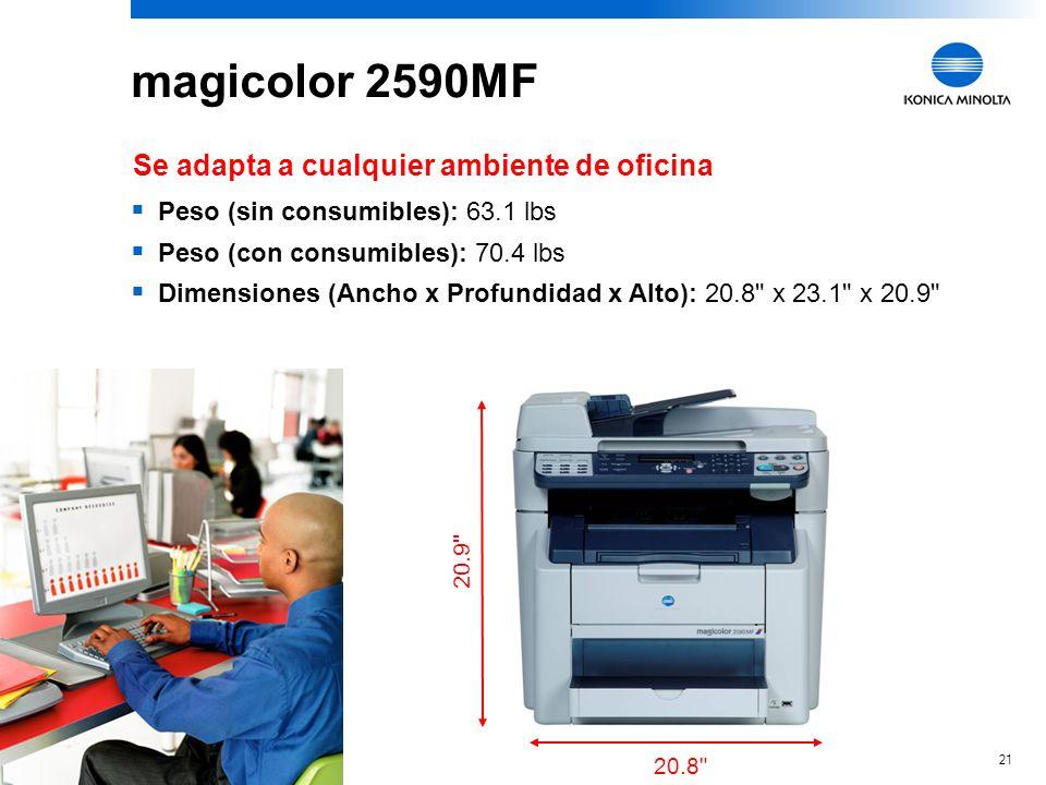 magicolor 2590MF Se adapta a cualquier ambiente de oficina