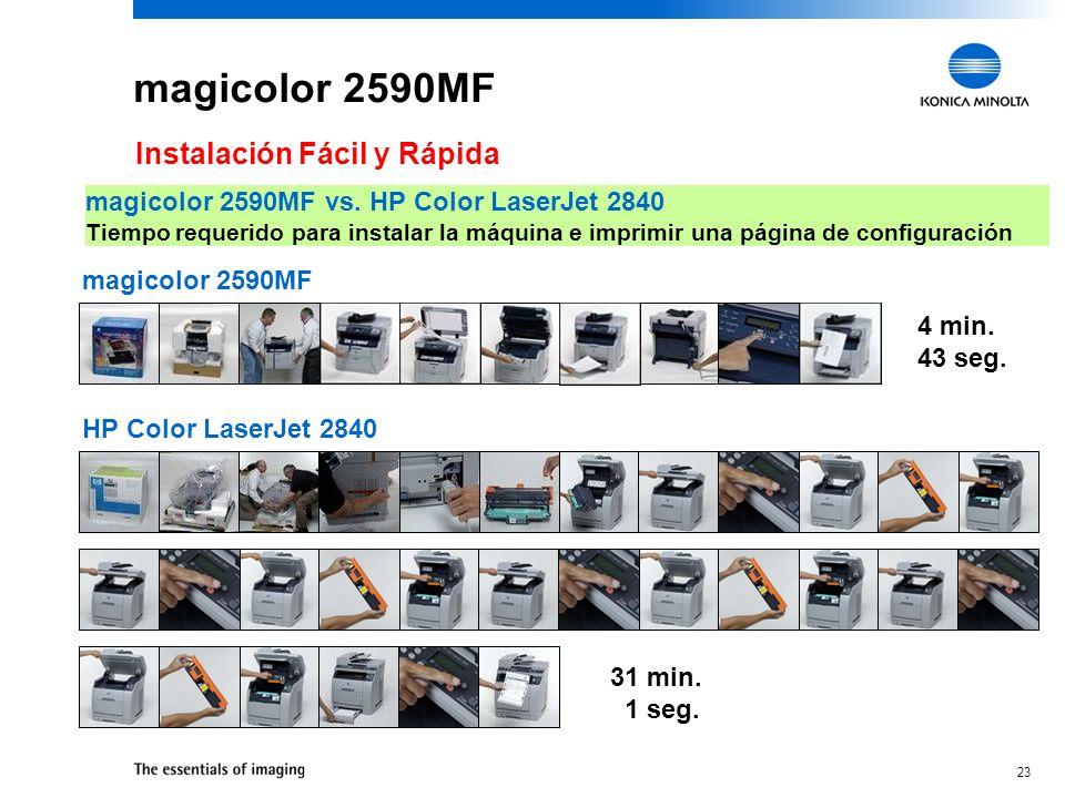 magicolor 2590MF Instalación Fácil y Rápida