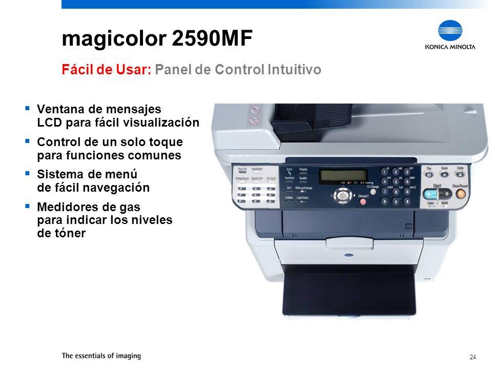 magicolor 2590MF Fácil de Usar: Panel de Control Intuitivo