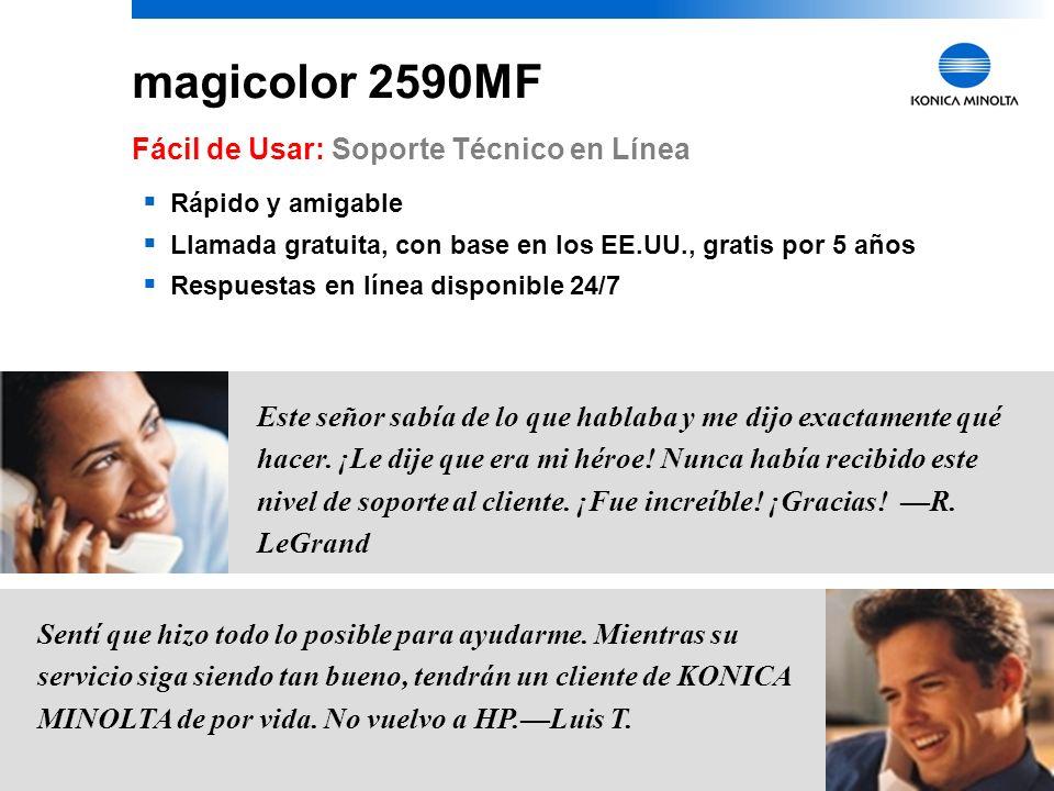 magicolor 2590MF Fácil de Usar: Soporte Técnico en Línea
